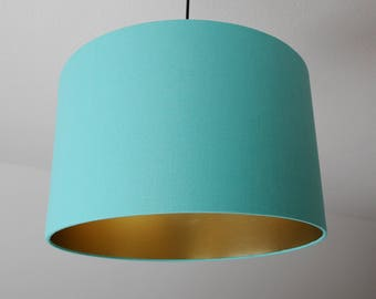 "Lampshade ""sea green-gold"""