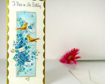 Vintage birthday greeting card for niece, Hallmark
