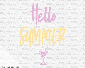 Hello Summer Svg Sayings Svg Summer Svg June Svg files Beach svg files for silhouette svg files for cricut svg files svg bundle high quality