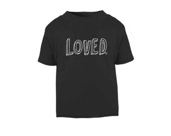 Black 'Loved' T-Shirt / Baby Grow