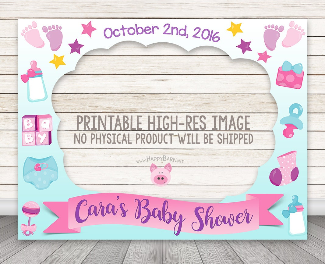 Hervorragend Cadre bebe a imprimer douche Photo Booth Baby Shower Photo MK56