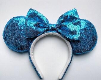 Dinoco Blue Sequin Ears