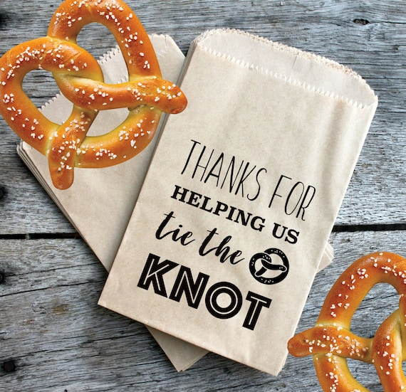 Pretzel Party Favors, Wedding Favors