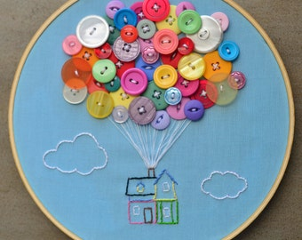 Disney-Pixar Up Embroidery Hoop Art
