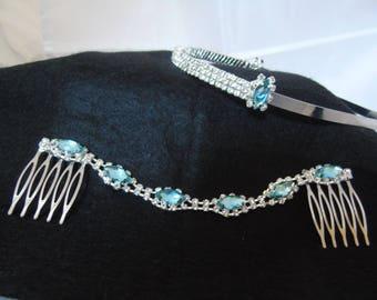Wedding headband and side combs set