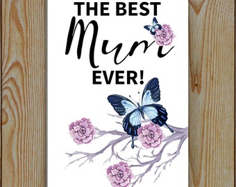 Mum mother's day or birthday, or just mum you are awesome day, Aluminium lightweight wall sign