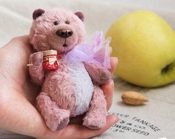Stuffed bear Cute Teddy Bear toy plush teddy bear doll handmade teddy stuffed animal bear artist teddy bear pink bear