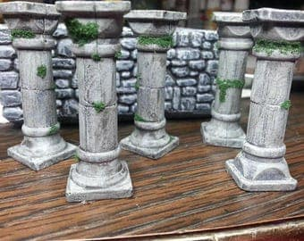 Dungeon Pillars for DungeonScapes, Dungeons and Dragons Fully Compatible with Dwarven Forge.