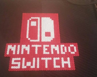 Nintendo switch logo perler bead