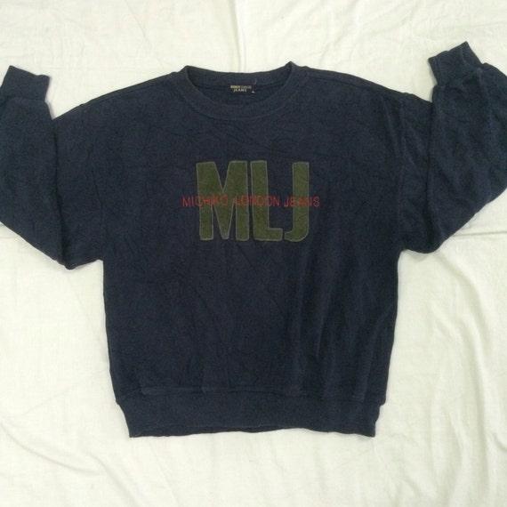 Vintage michiko london jeans big logo spellout sweatshirt