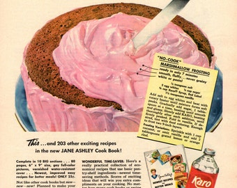 Karo Syrup Advertising Ad with Recipe wall Art Scrapbooking Home Decor 1952 Ad
