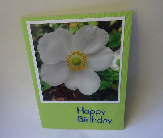 Birthday Card with Japanese Anemone Flower - #721
