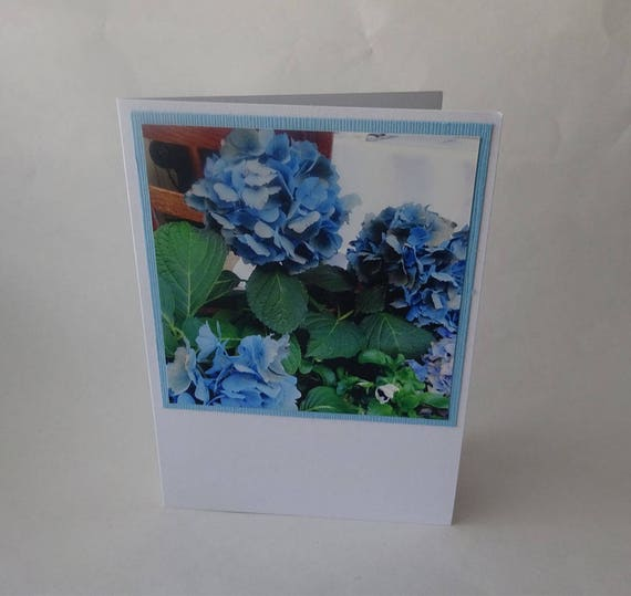Mother's Day Card with Blue Hydrangea Flowers - #469