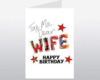 Tartan Words Card Wife WWTW14