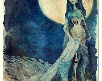Corpse Bride Digital Art Print | Sposa Cadavere Digital Art Print | Tim Burton Art Print | Original Watercolor Painting | Poster Art Print