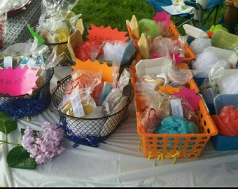 Make your Own Variety soap gift basket