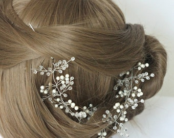 Wedding vine Crystals Bridal Wedding Headband Bridal Headpiece Hairpiece Bridal Hair Vine Bridal Wreath Bridal Tiara Diadem
