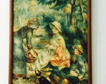 Vintage Print Renoir La Venditruce di Mele