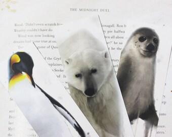 Three Winter Animals Bookmarks