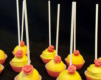 "Cake pops""Beauty and the Beast Inspired""  (Order of 13)"