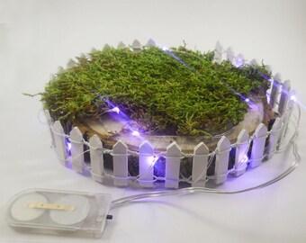 Lavender Fairy Light, Battery LED Lights, Waterproof, Tiny Light Fairy House, Terrarium, Miniature Gardens, Fairy Gardens, Table Centerpiece
