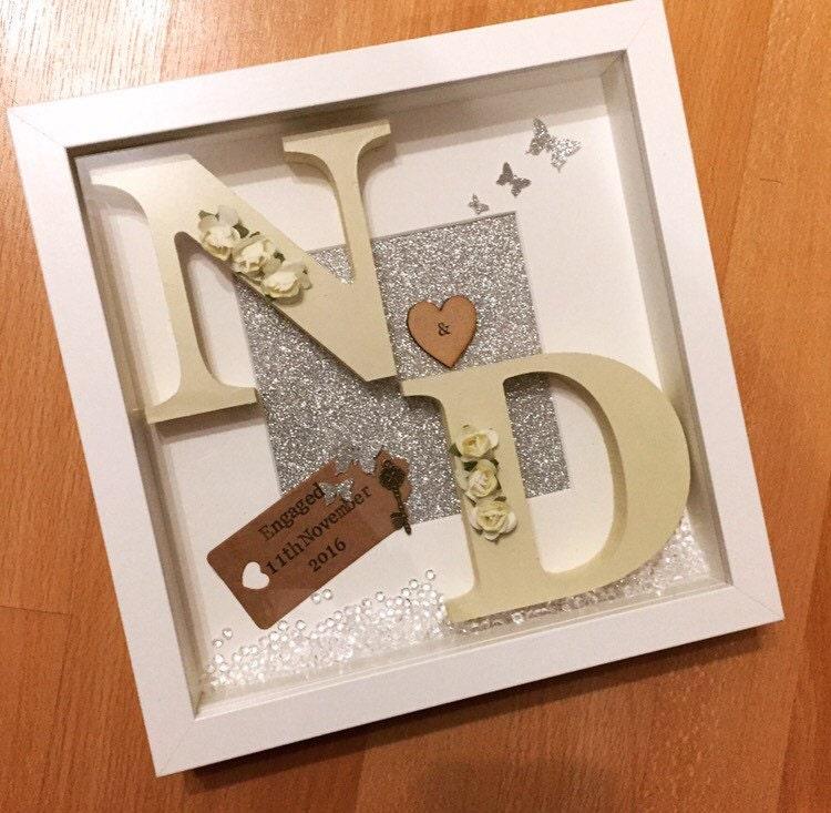 Personalised Wedding Gifts Vintage : Stunning Wedding Initial Box frame Personalised Gift Vintage