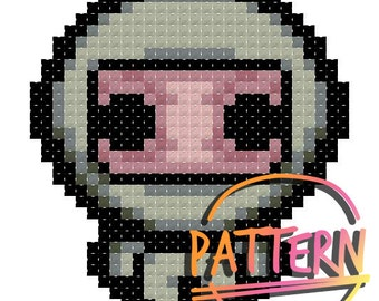 Binding of Isaac Wrath Cross Stitch Pattern