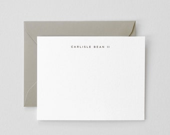 Simple Personalized Letterpress Stationery | San Serif Font, Custom Name