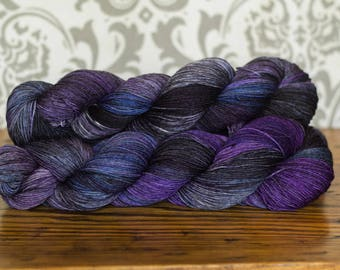 Hand dyed sock yarn-Midnight in the Quarter