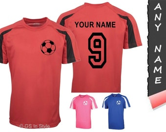 Personalised football T-Shirt with football motif