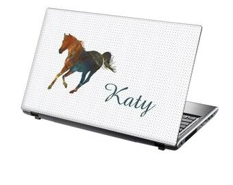 TaylorHe Personalised Laptop Skin Sticker Majestic Horse