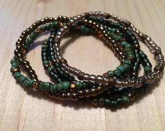 Seas of Green & Gold Bracelet