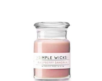 4oz Apothecary Jar - Raspberry Sangria Soy Candle
