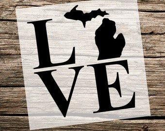 Custom State Love Outline | Reusable Stencils | Custom Stencil | Custom Stencils | Ready to use | Get Ready to Paint! |