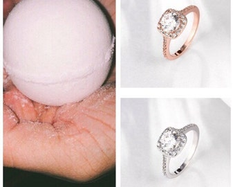 Surprise Ring Inside Bath Bomb ! Rose gold or silver