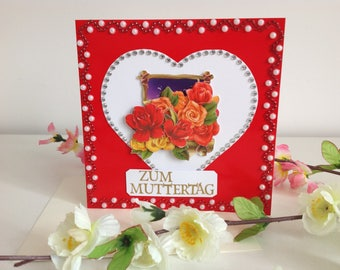 Handmade 3 D mother's Day card