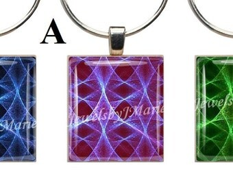 MYSTICAL ABSTRACTS ~ Scrabble Tile Wine Glass Charms ~ Set of 3 Stemware Charms/Markers/Pendants ~ Toast Your Celebration with Style!