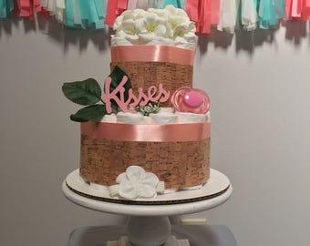 Mini Kisses Diaper Cake