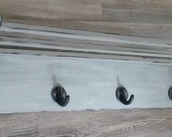 Old bar of hook coat hat rack Shabby Chic