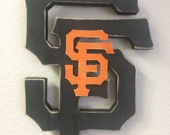 San Francisco Giants Logo Sign, San Francsico Giants Wood Logo Sign, San Francisco Giants Logo Wooden Sign, SF Giants Sign