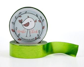 Lime Green Washi Tape - foil washi tape