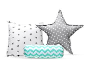 Pillow Set - Mint ZigZag