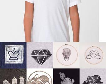 Kids t-shirt size 2 - white - printed choice