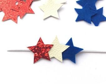 Fourth Of July Headband, Memorial Day Headband, Star Headband,