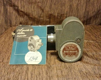 Bell and Howell 1940s model 134 8mm movie camera, free shipping