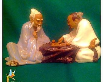 Chinese Mudman Collectible Rare Figurine. Chinese. Mudmen. Wanjiang. Collectible Figurine. Mudmen. Vintage Mudmen. Christmas.
