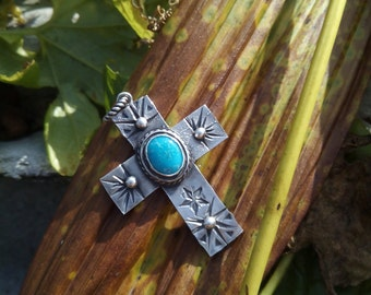 Morenci Turquoise Silver Pendant