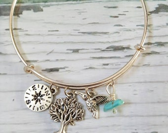 Pocahontas Jewelry, Princess Jewelry, Turquoise Jewelry, Native American Jewelry, Gifts for Women, Free Shipping, Charm Bracelet