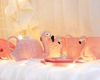 Flamingo teapot / flamingo cup