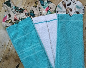 Hanging Kitchen Towels, Decorative Towels, Wedding or Shower gift, Treat for yourself!